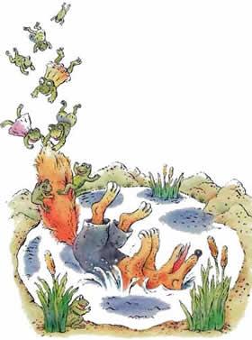 Братец Лис и лягушки читать онлайн