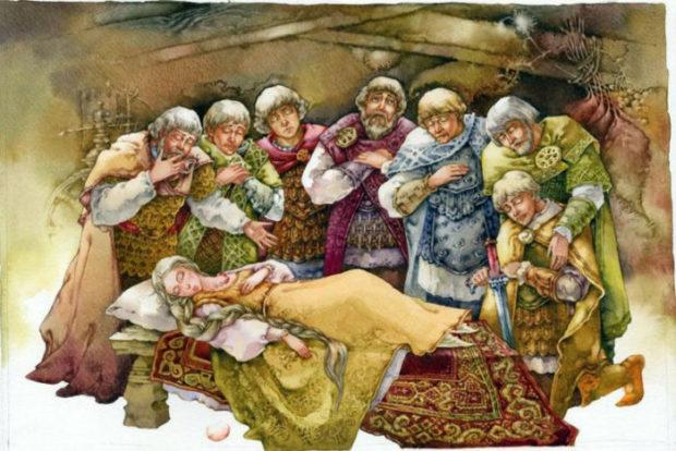Сказка о мертвой царевне и о семи богатырях читать онлайн